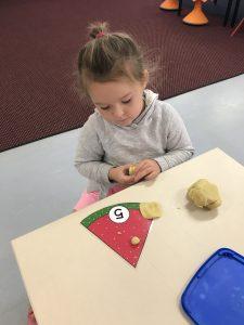 Charlie watermelon play dough